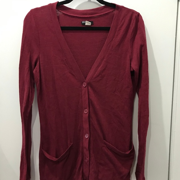 BDG Sweaters - BDG Cardigan in Maroon | Urban Outfitters